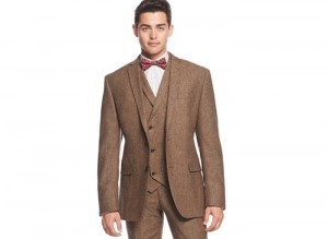 1920s style mens suit vest, shirt, and bow tie. Find it and more at VintageDancer.com