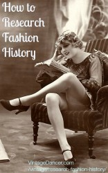 How to Research Fashion History